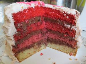 Ombre Cake 2