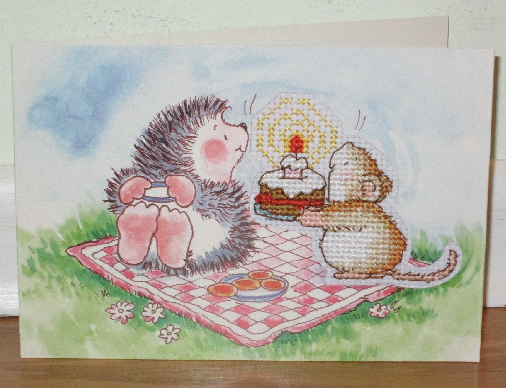 Hedgehog Mouse Card